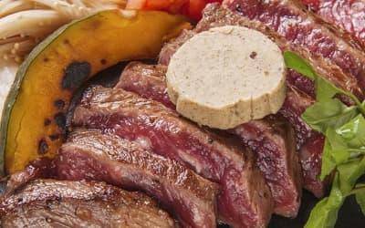 熟成牛の鉄板焼きトリュフバター添え